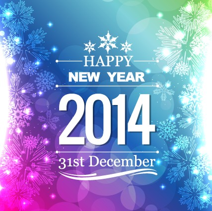 elegant 2014 new year background design vector 03