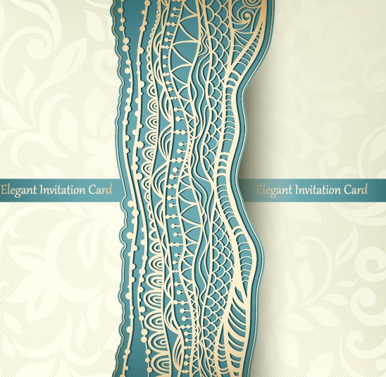 Elegant invitation card lace vector free download elegant invitation card lace vector stopboris Images