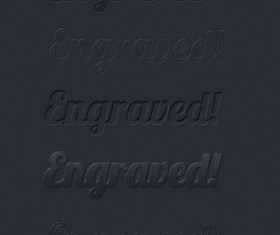 Engraved effects text Photoshop Styles