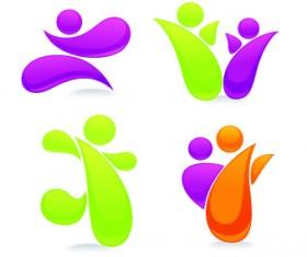 Shiny family logos design vector 01