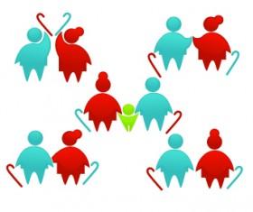 Shiny family logos design vector 03