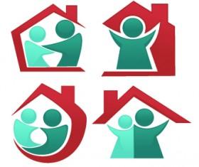 Shiny family logos design vector 05