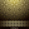 Floral decorative pattern vintage background vector 01