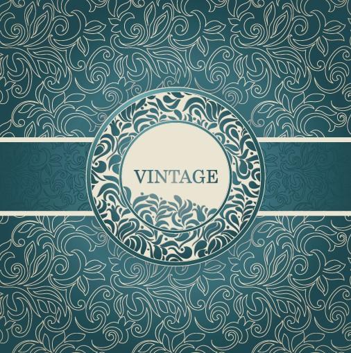 Floral decorative pattern vintage background vector 02