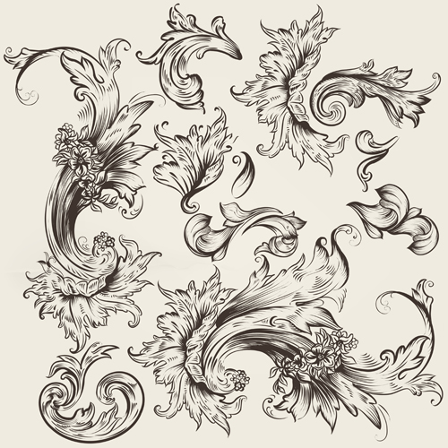 swirl ornament design vector 03 - Vector Floral, Vector Ornament ...