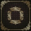 Golden vintage frame vector background 04