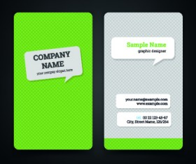 Green style business cards design vector