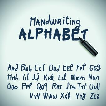 Hand Drawn Alphabet Font Vector Set 04