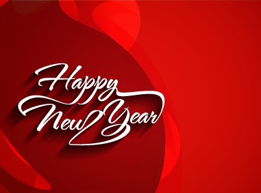happy new year text with holiday background vector 02
