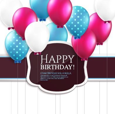 Elegant Birthday Backgrounds : Free EPS file Elegant Happy Birthday balloon background vector 05 ...