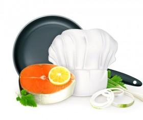 Kitchen object design elements vector 02