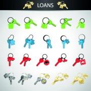 Link toLoans design icons vectors