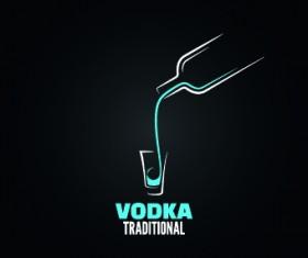 Creative drink logos design vector 03