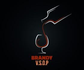 Creative drink logos design vector 04