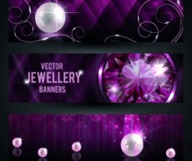 Luxury Jewellery banners design vector 01