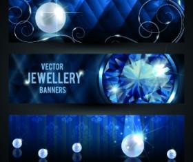 Luxury Jewellery banners design vector 02