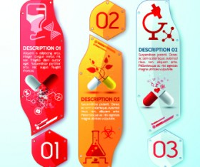 Creative medical banner with number vector 04