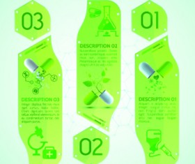 Creative medical banner with number vector 05