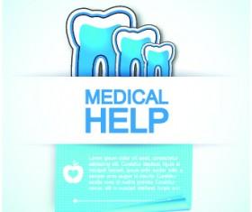Medical help design elements vector background 01