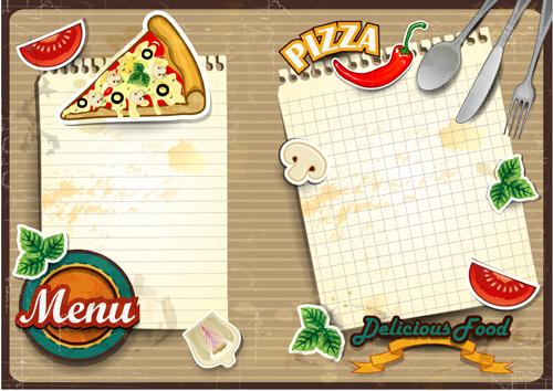 Immagini vettoriali per i tuoi menù: pizza