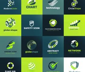 Modern technology style logos vector