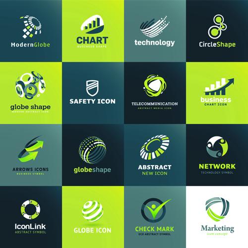 Modern Technology Style Logos Vector Vector Logo Free