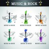 Music rock elements icons vector