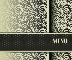 Vintage decorative pattern restaurant menu cover vector 01