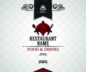 Creative restaurant menu covers vector graphic 04