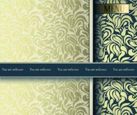 Vintage decorative pattern restaurant menu cover vector 04