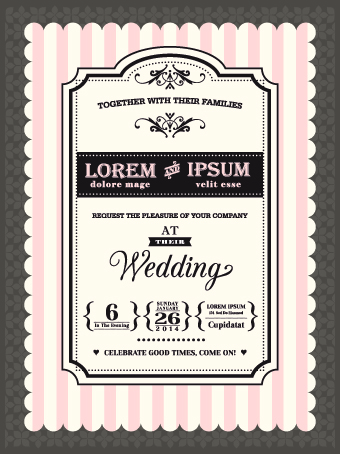 Retro wedding invitations cards design vector 02 vector card free retro wedding invitations cards design vector 02 stopboris Image collections