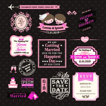 Matrimoni e risorse gratuite - vettori