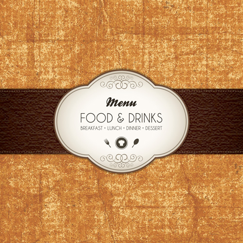 Set of Menu cover design vector 02