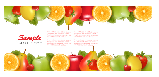 Shiny Fruits Background Vector Vector Background Vector