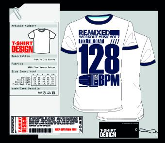 T Shirt Design Software Free Download | Stylish T Shirt Design Vector Material 01 Free Download