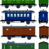 Train design elements vector graphic 03