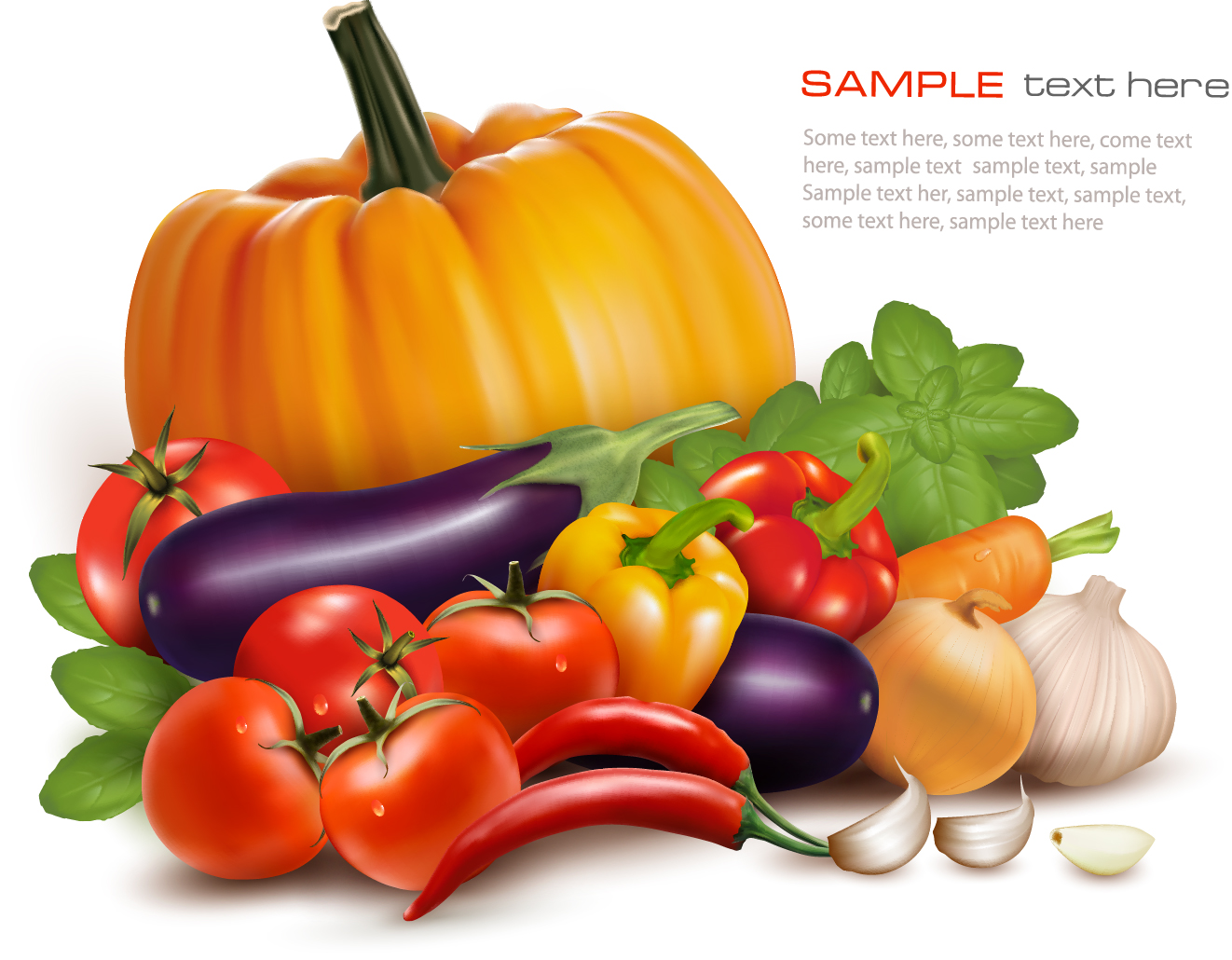 Various vegetables vector background - Vector Background ...