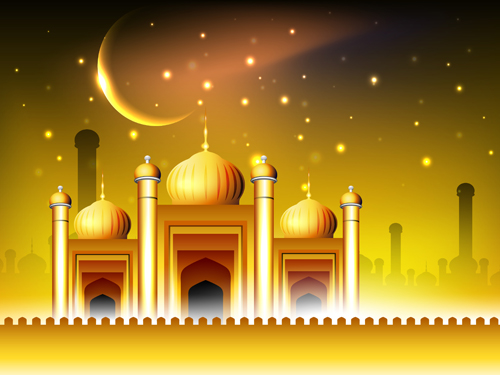 Vector Islamic style background set 02