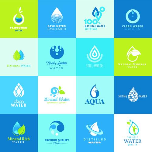 Logo Vector Set Vector Water Elements Logos