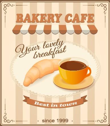 vintage food advertising poster design vector 03 free download