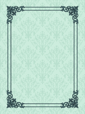vintage luxury frame design vector set 07