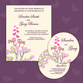 Wedding invitation with dvd kit design vector 04 vector card wedding invitation with dvd kit design vector 04 stopboris Image collections