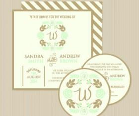 Wedding invitation with dvd kit design vector 05