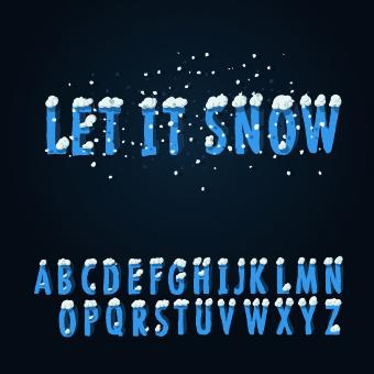 winter style alphabet creative vector free download. Black Bedroom Furniture Sets. Home Design Ideas