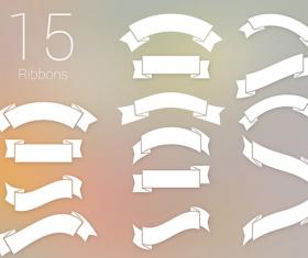 White ribbon psd graphics