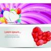 Colorful balloons holiday banner vector set 01