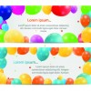 Colorful balloons holiday banner vector set 04