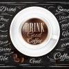 Creative coffee elements with wooden background vector 05