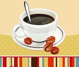 I love coffee theme poster design vector 04