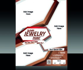 Colored abstract flyer brochure cover vector 04
